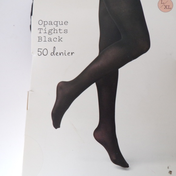 a new day Accessories - A New Day Opaque Tights Black Size L XL WA1229